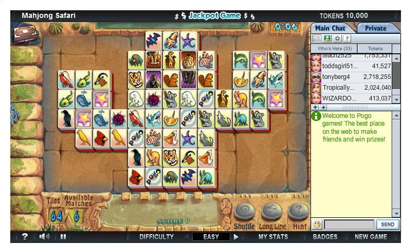 Mahjong Safari from Pogo