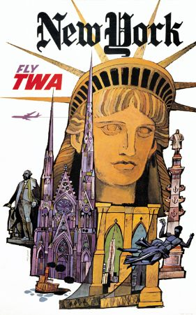 TWA New Yorker Magazine Travel Poster