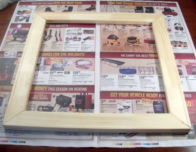 DIY Make it yourself $5 picture frame