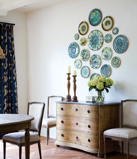 Unique Plates on wall as artwork